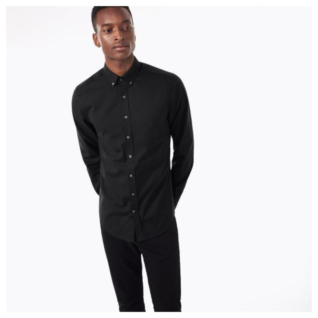 Pinpoint Oxford Fitted Shirt - Black