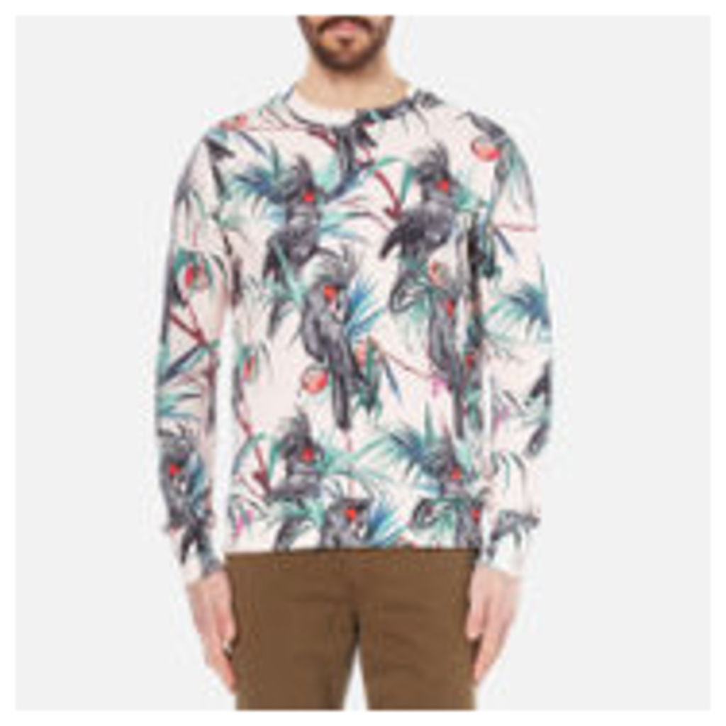 PS by Paul Smith Men's Long Sleeve Printed Sweatshirt - Pink - L - Pink