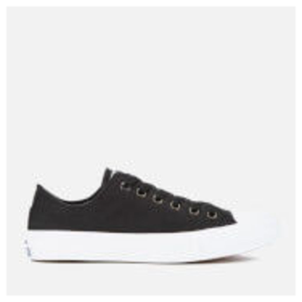 Converse Chuck Taylor All Star II Ox Trainers - Black/White/Navy - UK 3 - Black
