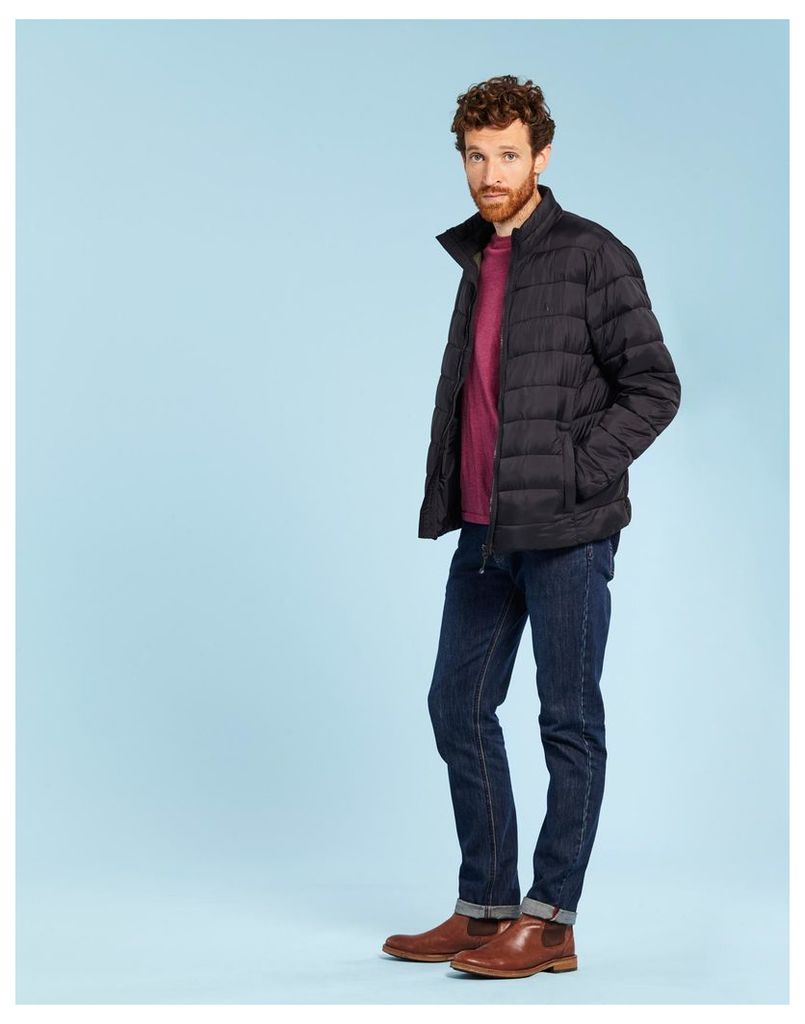 Black Go to Lightweight Quilted Jacket  Size L   Joules UK