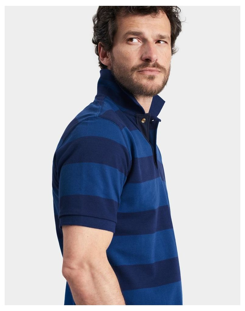 Blue Stripe Filbert Classic Fit Polo Shirt  Size S   Joules UK