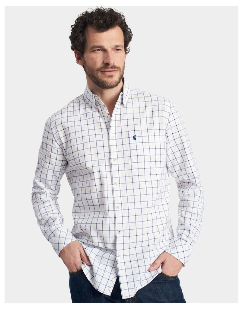 Chalk Check Wilby Classic Fit Shirt  Size M | Joules UK