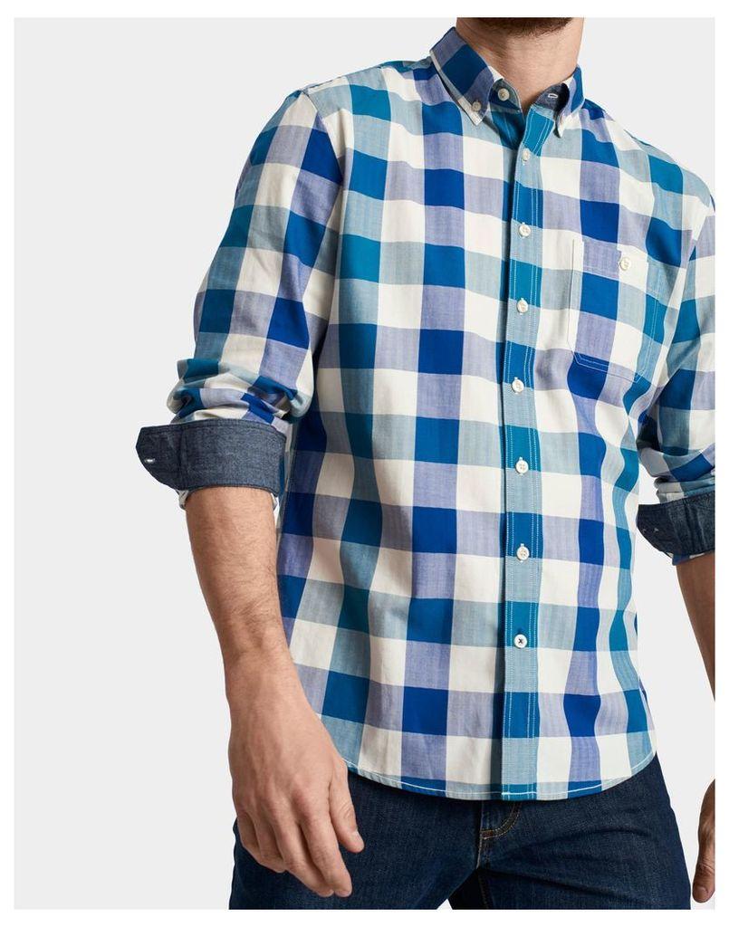 Blue Teal Gingham Hewitt Slim Fit Shirt  Size M   Joules UK