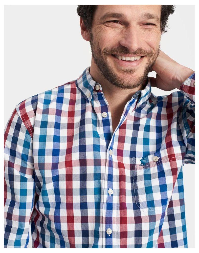 Multi Gingham Hewney Classic Fit Shirt  Size L   Joules UK