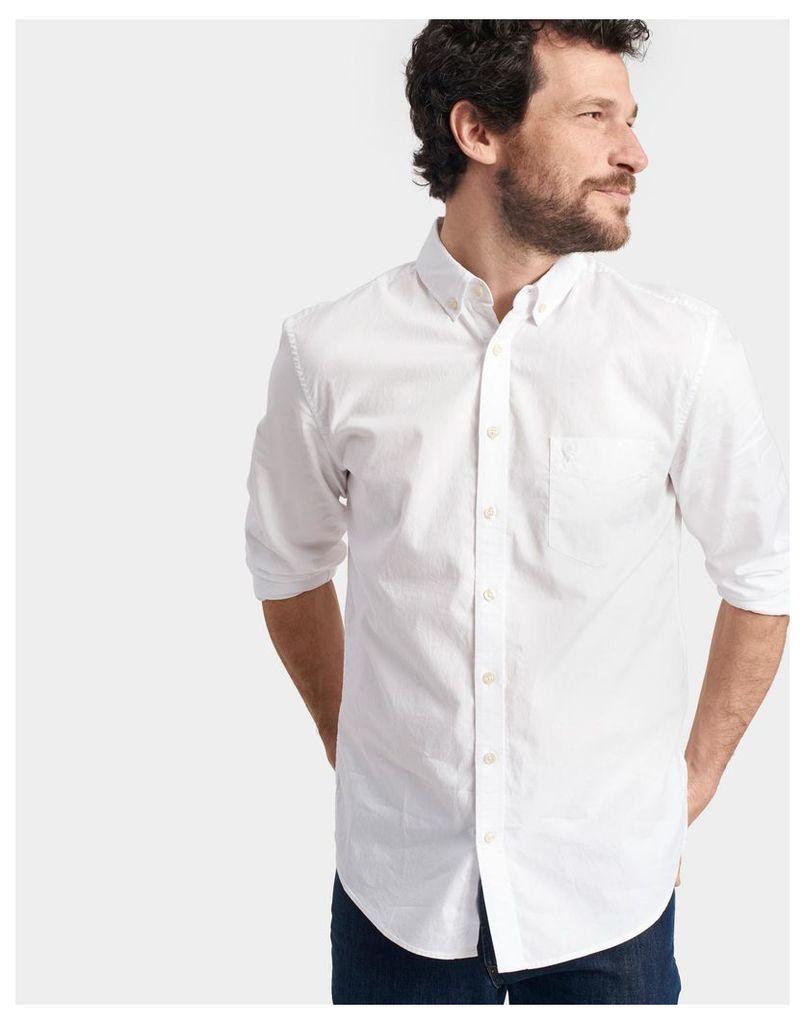 White Lambert Classic Fit Shirt  Size L   Joules UK