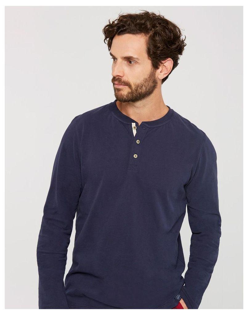 French Navy Lounge Long Sleeve Slub T-Shirt  Size L   Joules UK