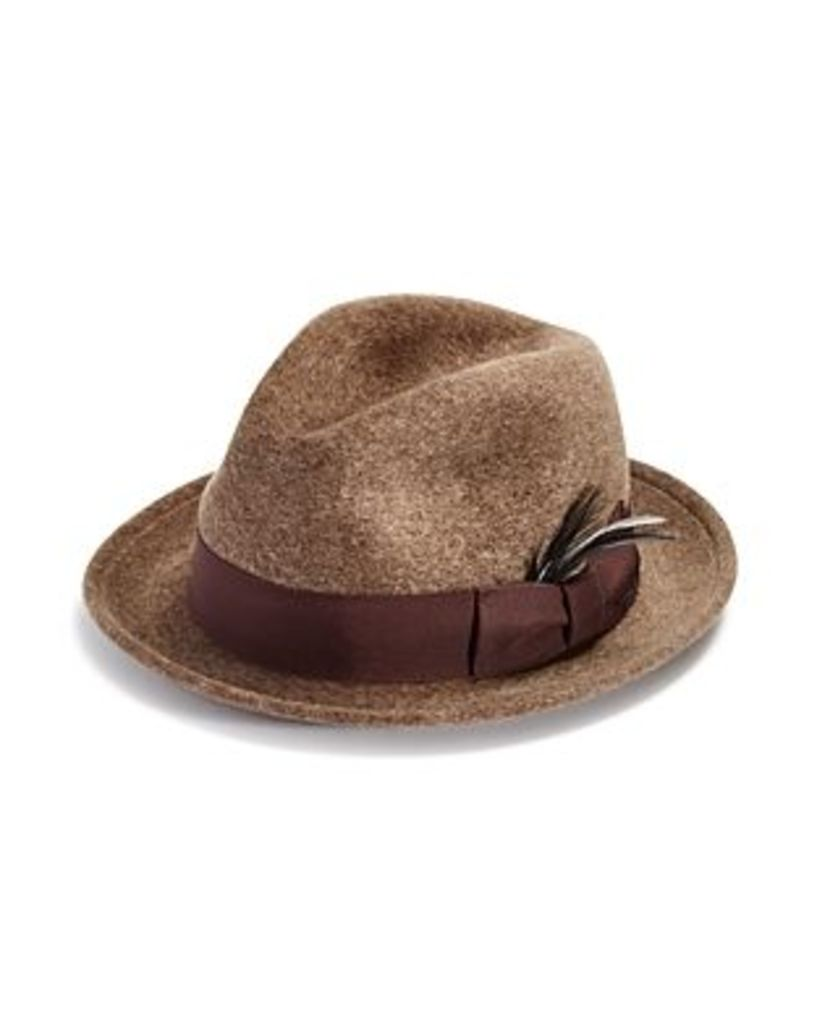 Bailey of Hollywood Riff Polished Wool Center Dent Crown Hat - 100% Exclusive