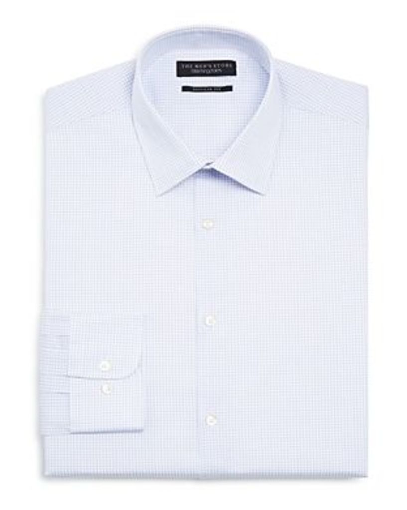 The Men's Store at Bloomingdale's Multi Check Regular Fit Dress Shirt - 100% Exclusive
