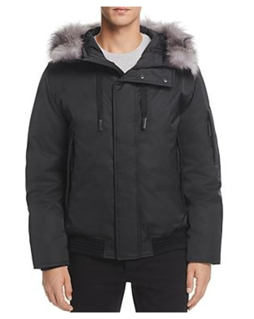 Andrew Marc Alpine Hooded Bomber Jacket