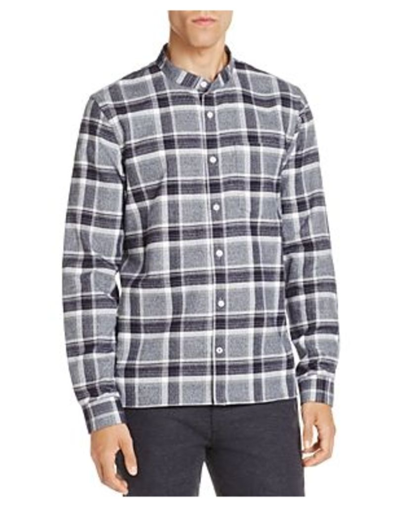 NN07 Gustav Check Band Collar Slim Fit Button-Down Shirt - 100% Exclusive