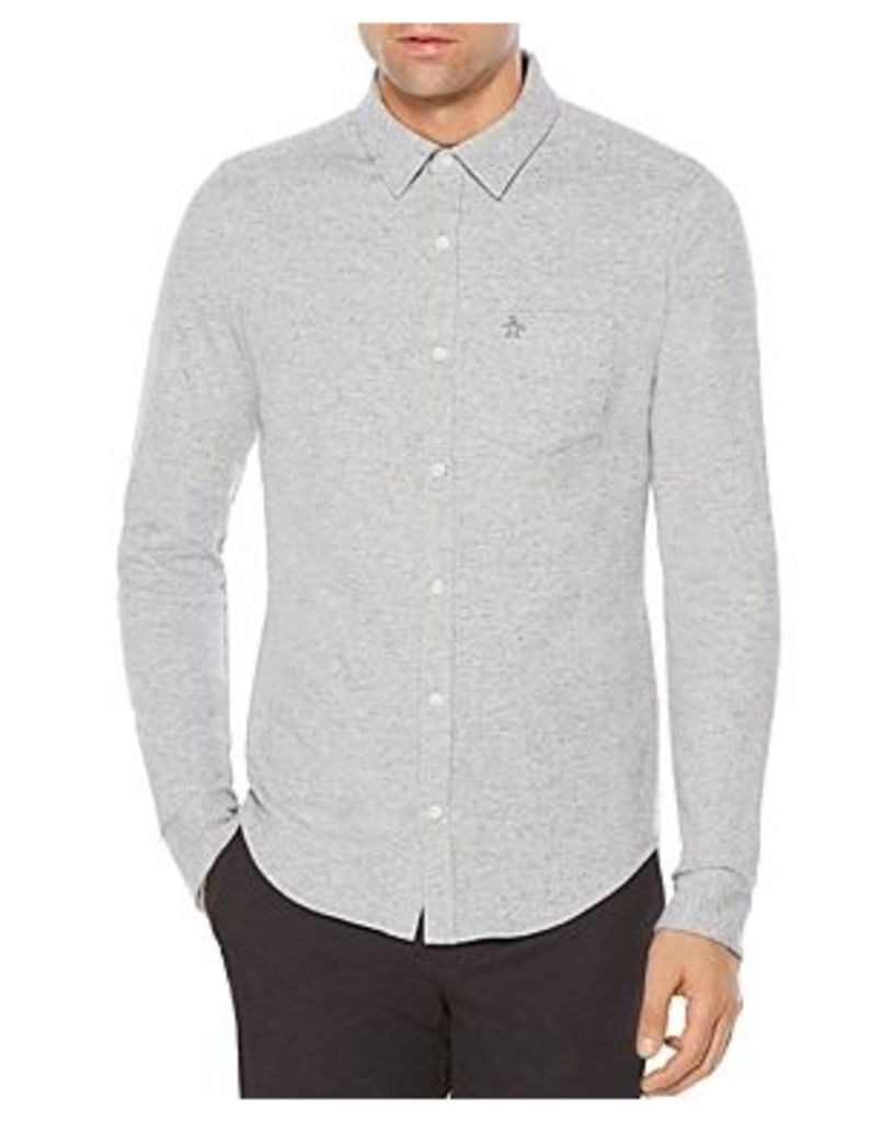 Penguin Knit Slim Fit Button-Down Shirt