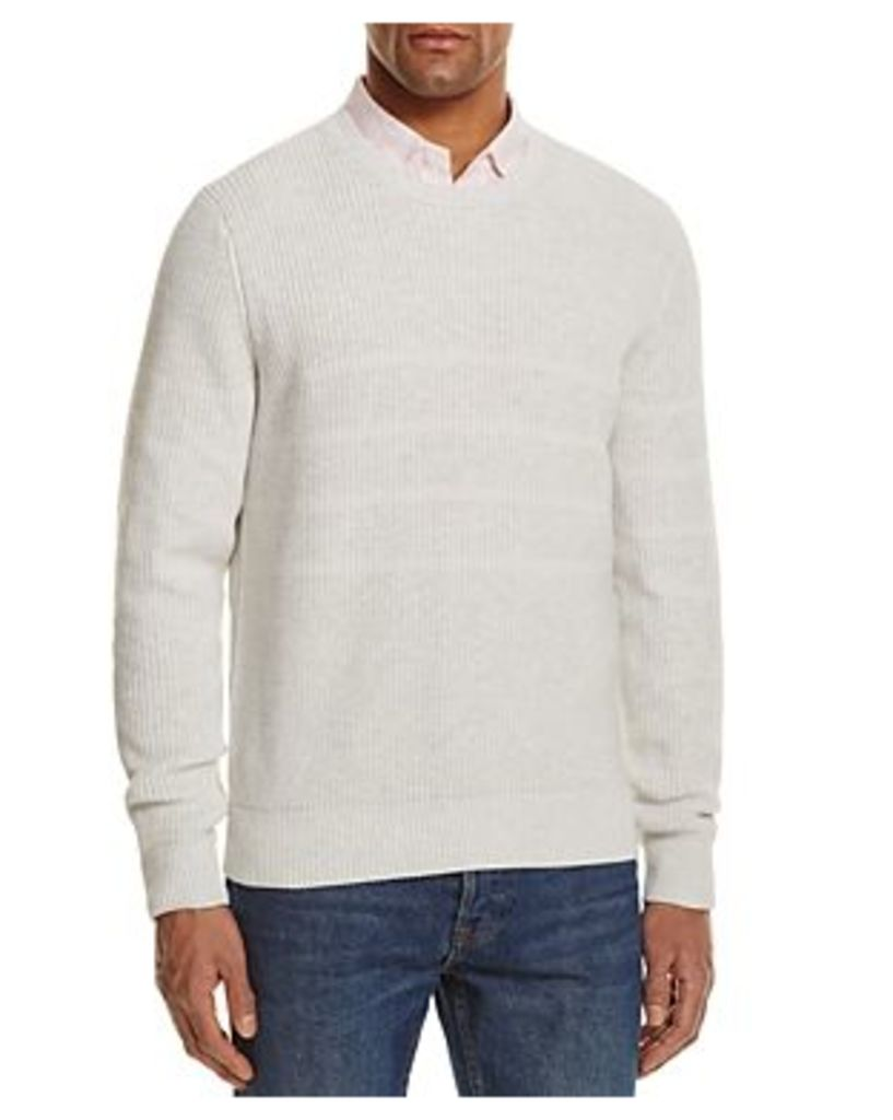 The Men's Store at Bloomingdale's Chunky Stitch Striped Cotton Sweater - 100% Exclusive
