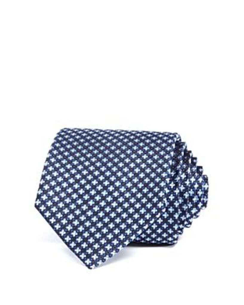 The Men's Store at Bloomingdale's Mini Floral Textured Classic Tie - 100% Exclusive