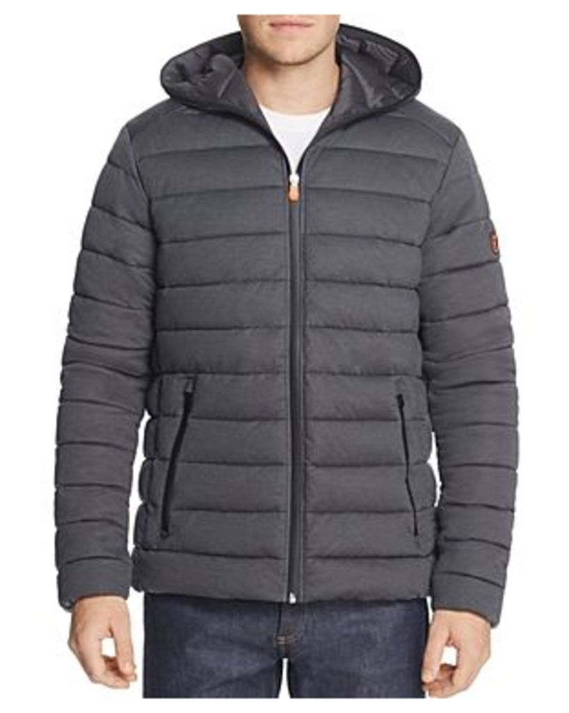 Save The Duck Heathered Stretch Hooded Puffer Jacket