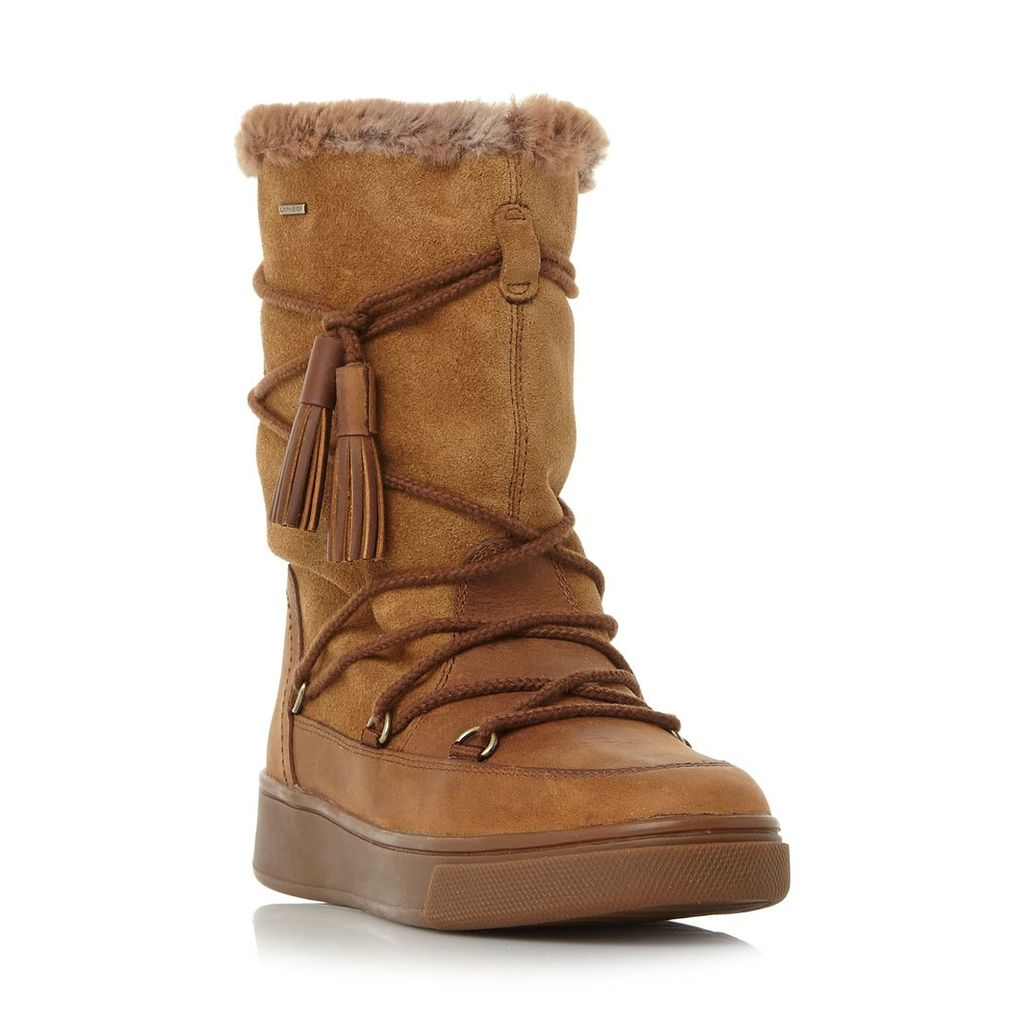 Geox Mayrah Warm Lined Snow Boots, Tan