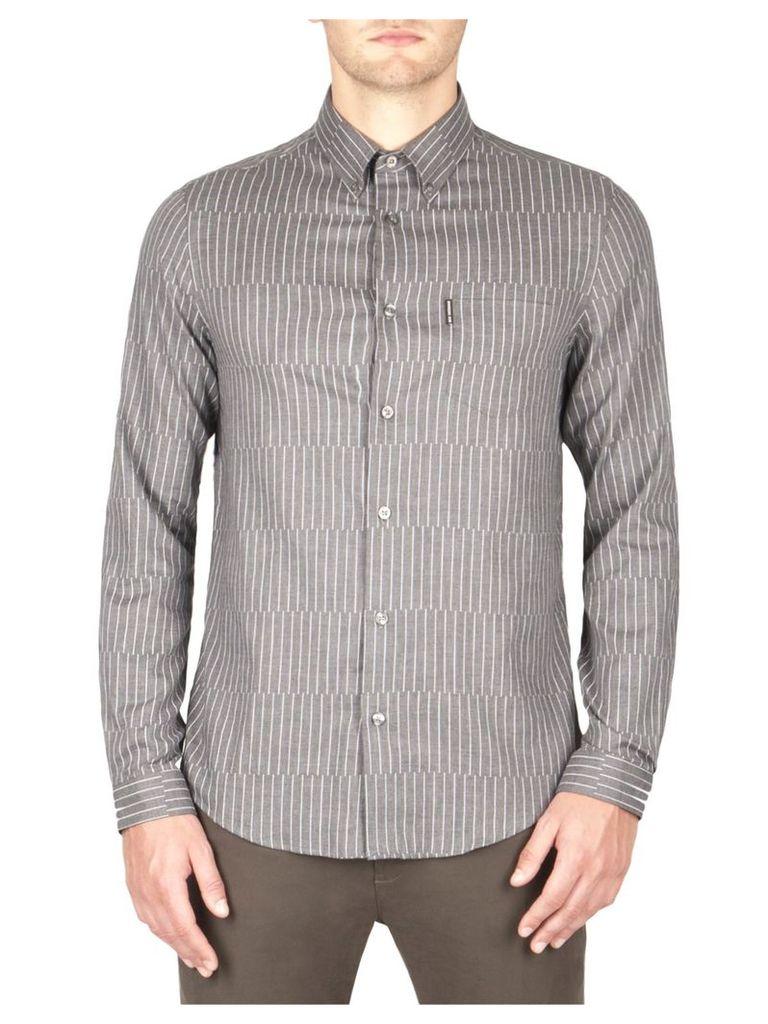 Modern Pinstripe Shirt XXXL Concrete Marl