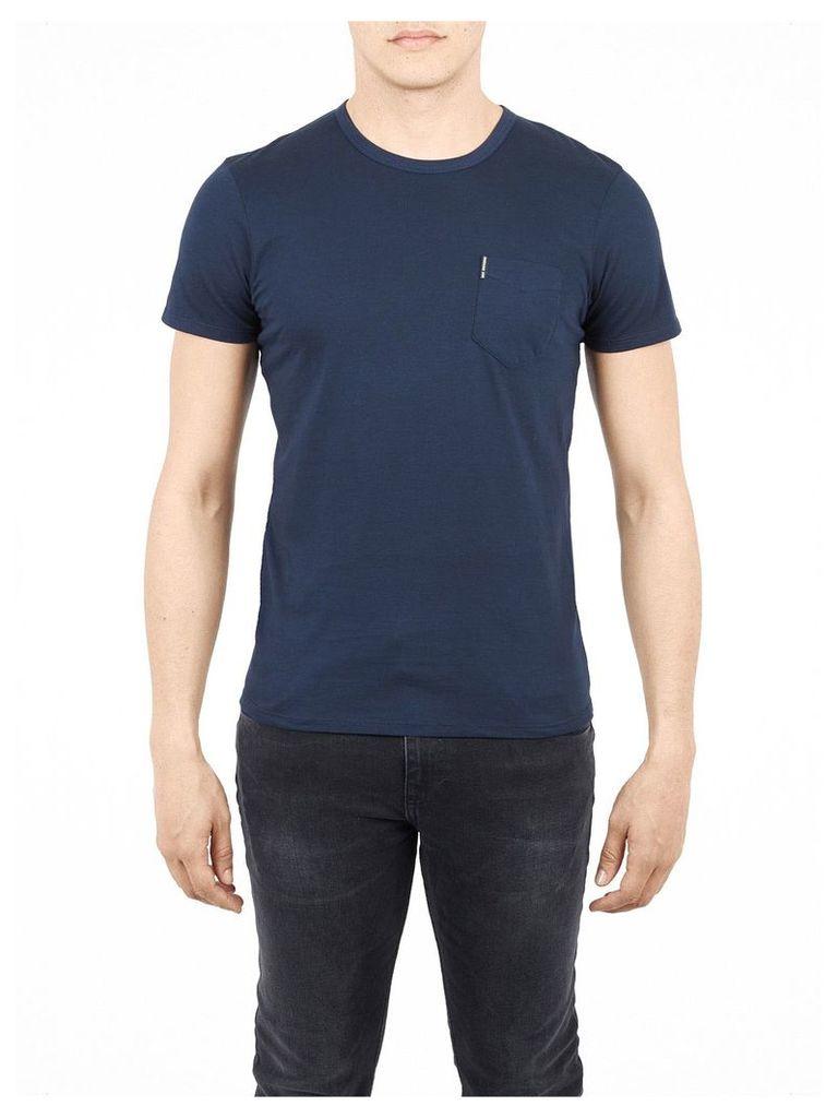 Classic Crew Neck Pocket T-Shirt Sml Navy Blazer