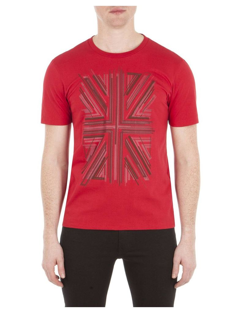 Union Jack Graphic T-Shirt XL 149 Red