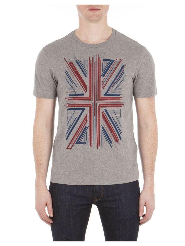 Union Jack Graphic T-Shirt XXS 73P Silver Chalice M