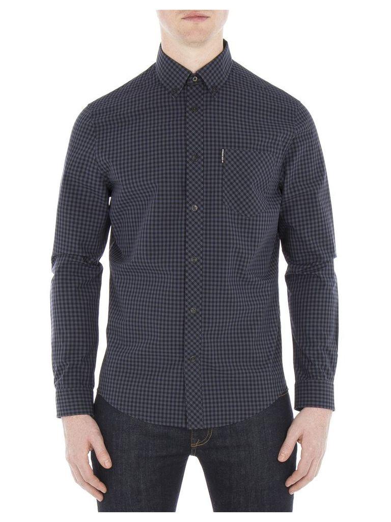 Long Sleeve Core Gingham Shirt 5XL C97 Phantom
