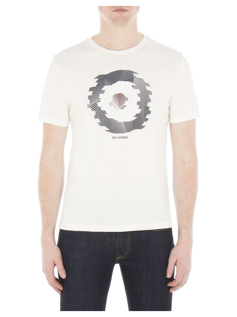 Abstract Target T-Shirt Med Off White Marl