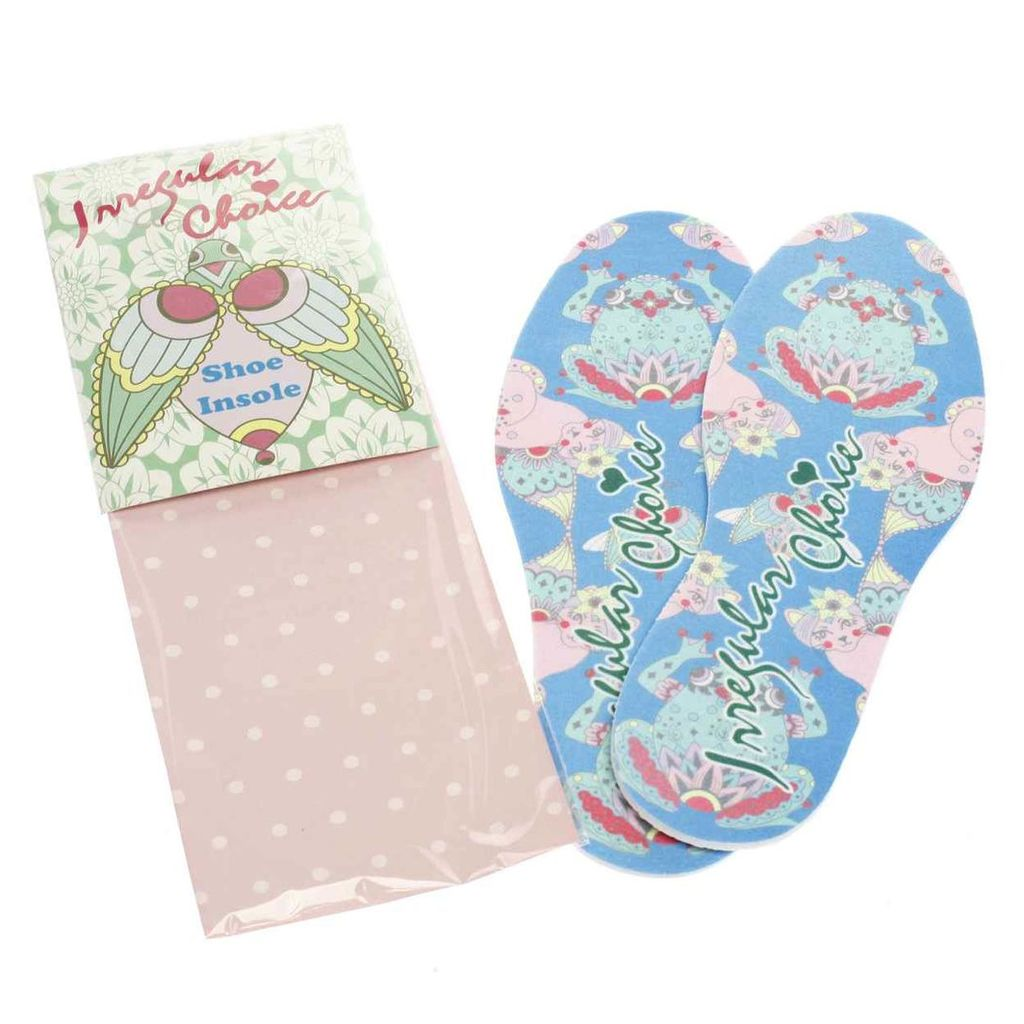 irregular choice blue & pink insole shoe care