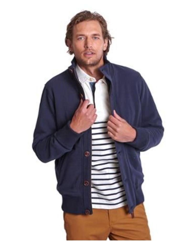 Joules Brockton Mens Bomber style Sweatshirt Jacket - Marine Navy