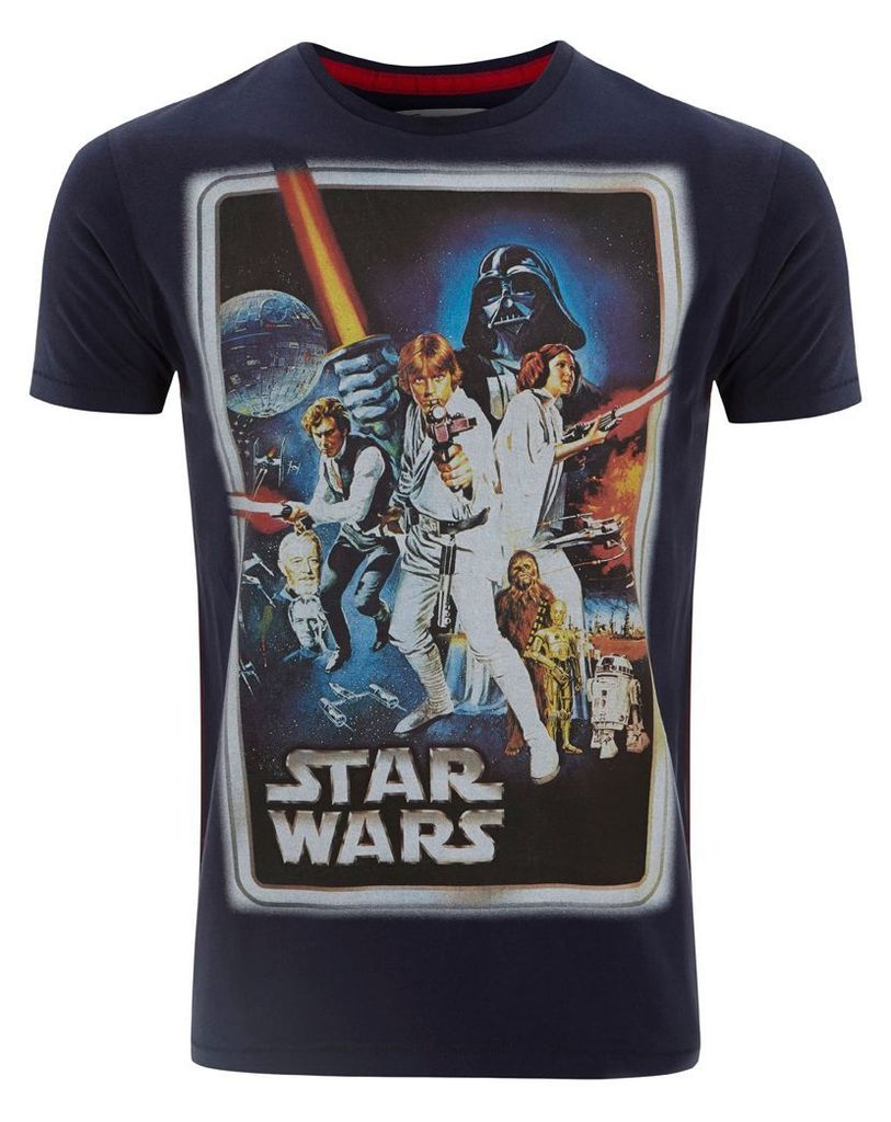 Men's Fabric Flavours Men`s Star Wars New Hope Classic Poster T-Shirt, Blue