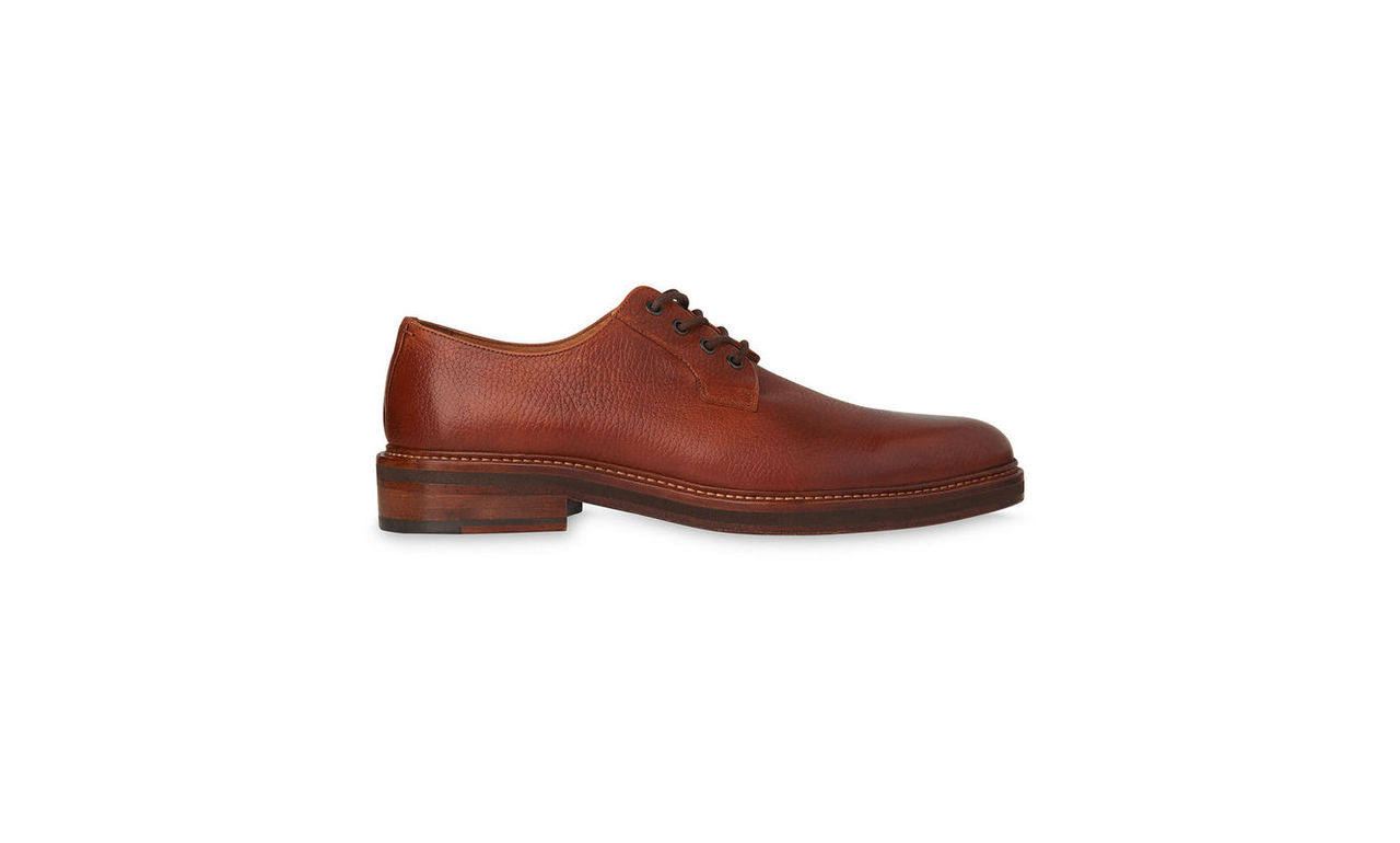 Grained Leather Derby