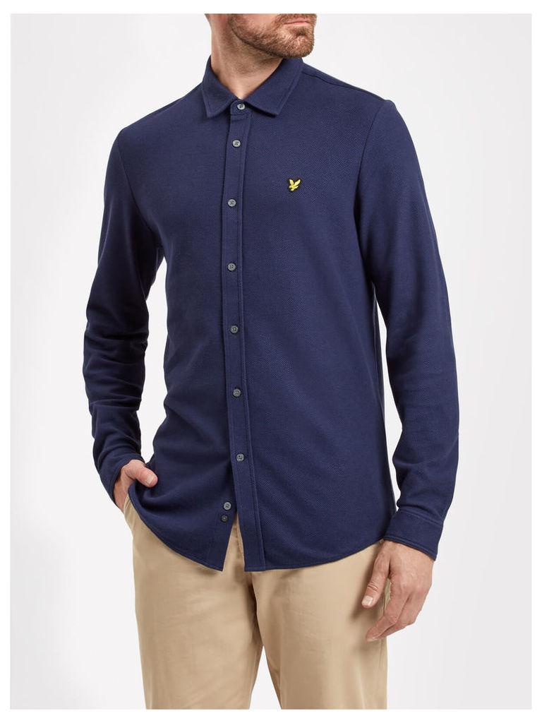 Lyle & Scott Honeycomb Stitch Jersey Shirt