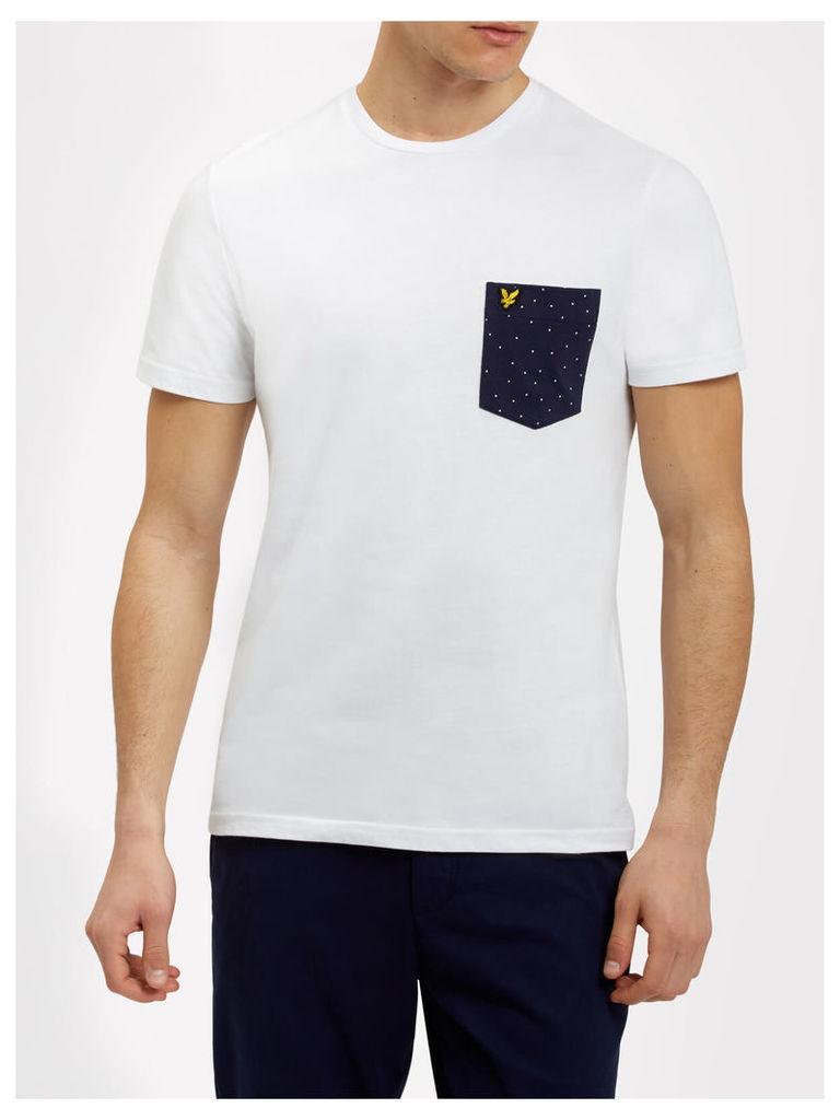 Lyle & Scott Mini Square Dot Pattern Pocket T-shirt