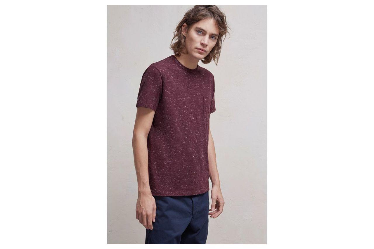 Granite Grindle Jersey T-Shirt - bordeaux
