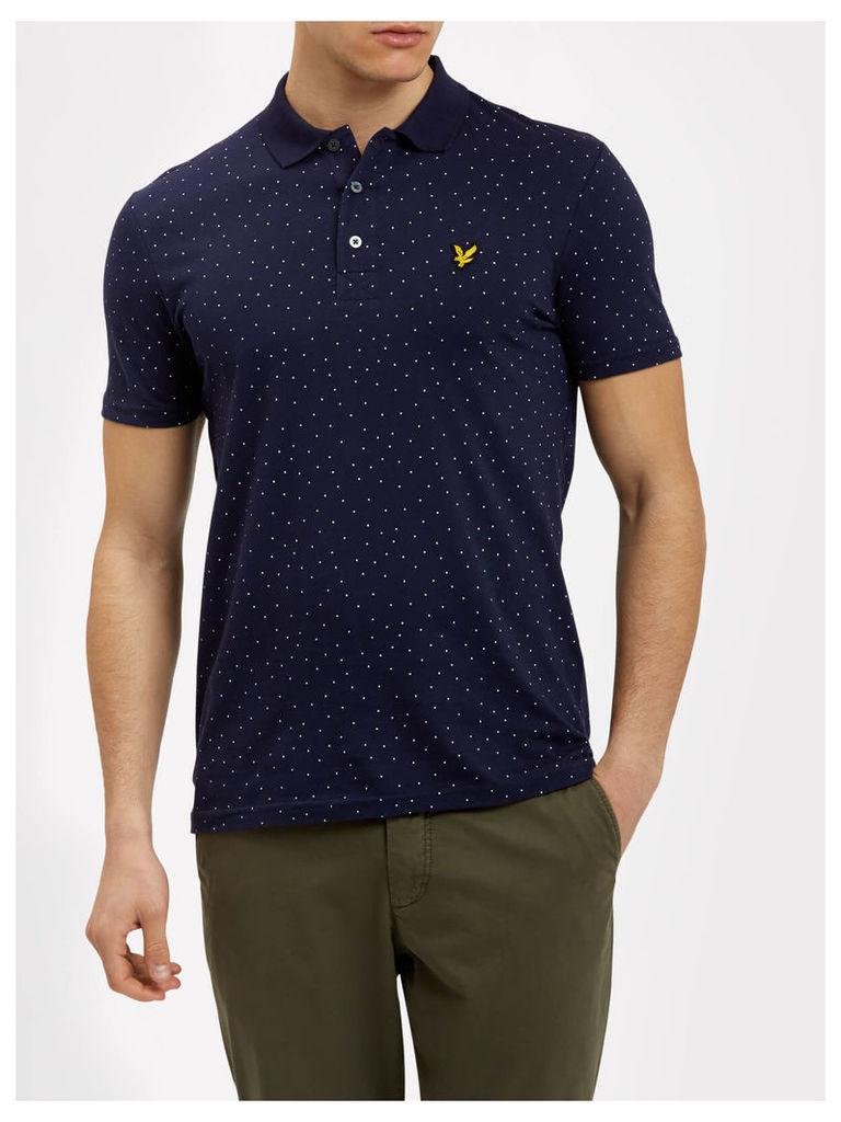Lyle & Scott Mini Square Dot Pattern Polo Shirt