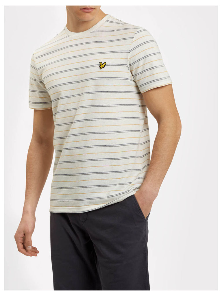 Lyle & Scott Stripe Pick Stitch T-shirt