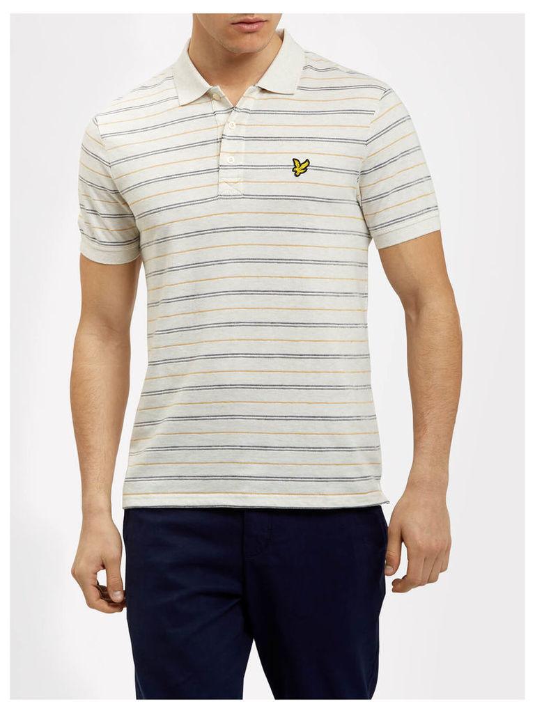 Lyle & Scott Stripe Pick Stitch Polo Shirt