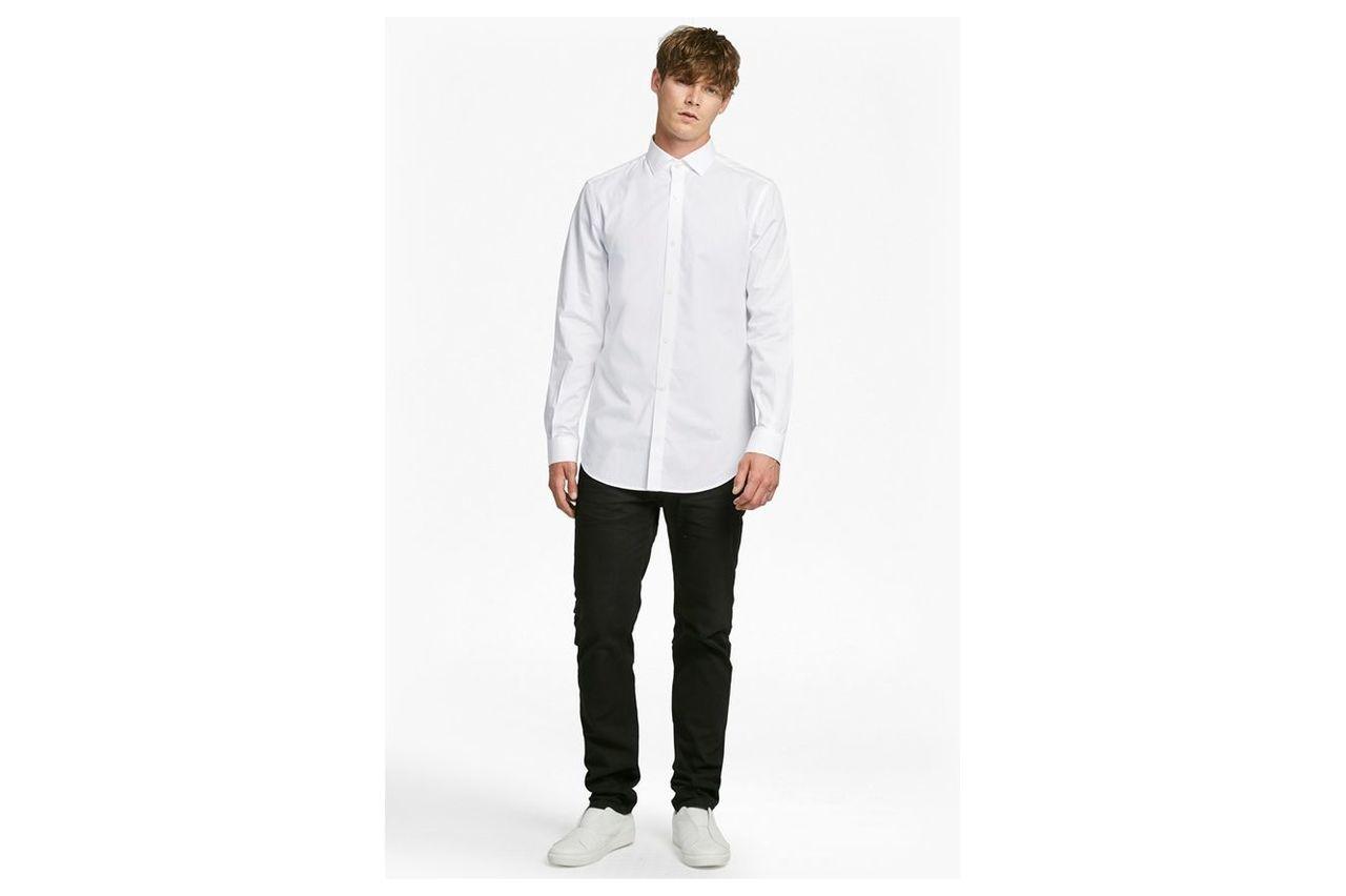 Formal Cotton Cutaway Collar Shirt - white