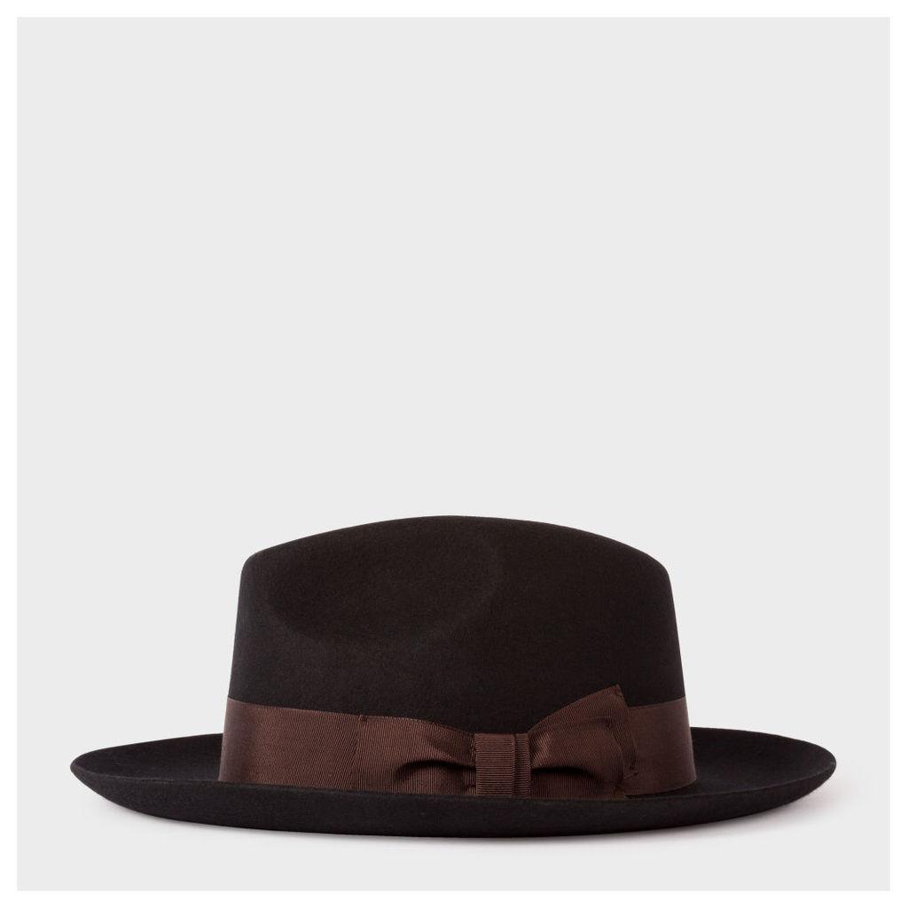 Men's Black 'Mayfair' Wool Fedora Hat
