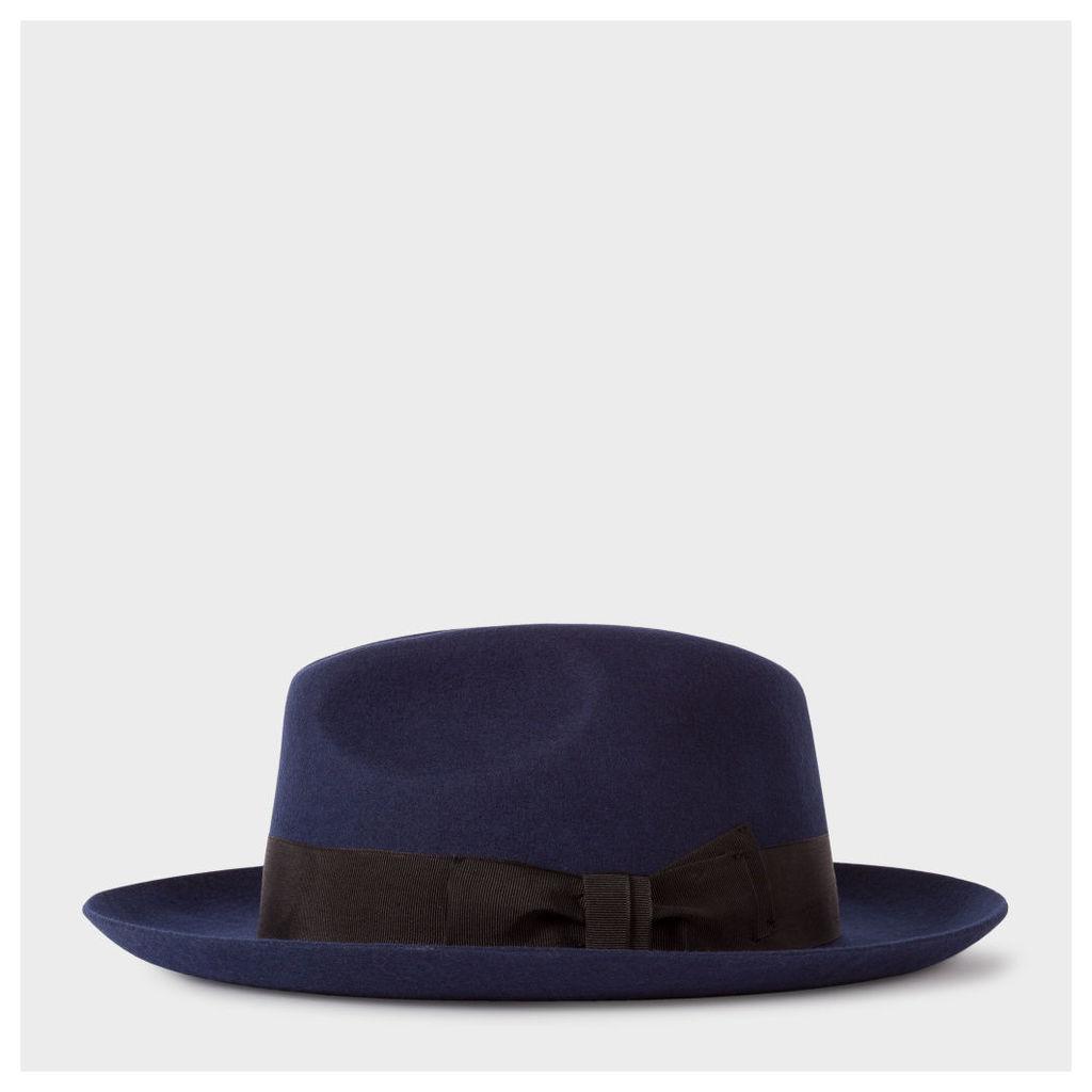 Men's Navy 'Mayfair' Wool Fedora Hat