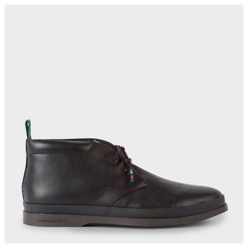 Men's Black Leather 'Inkie' Chukka Boots