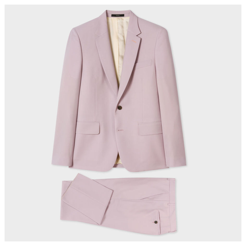 The Soho - Men's Tailored-Fit Dusty Pink Wool-Mohair Suit