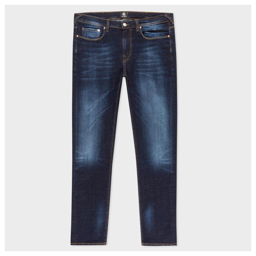 Men's Slim-Fit 15oz Dark-Wash 'Low Stretch' Denim Jeans