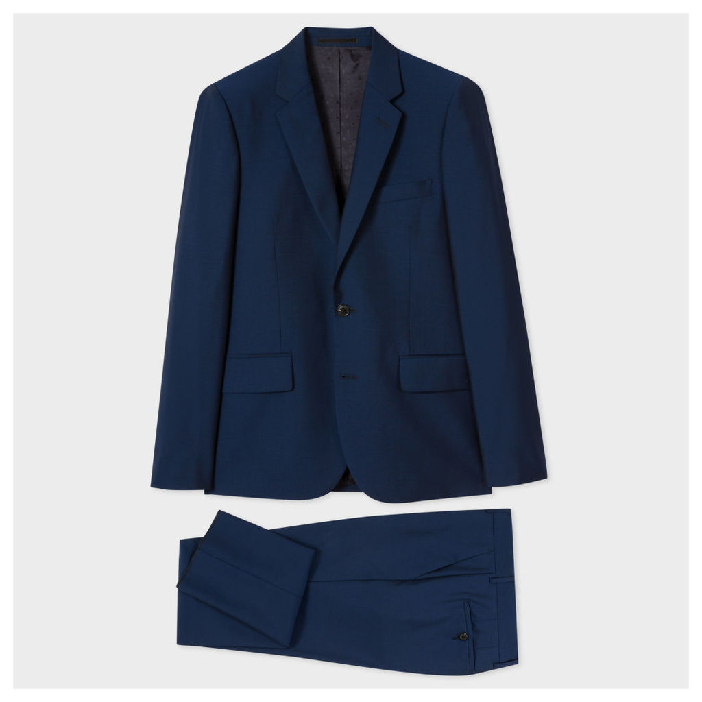 The Soho - Men's Tailored-Fit Blue Wool-Mohair Suit