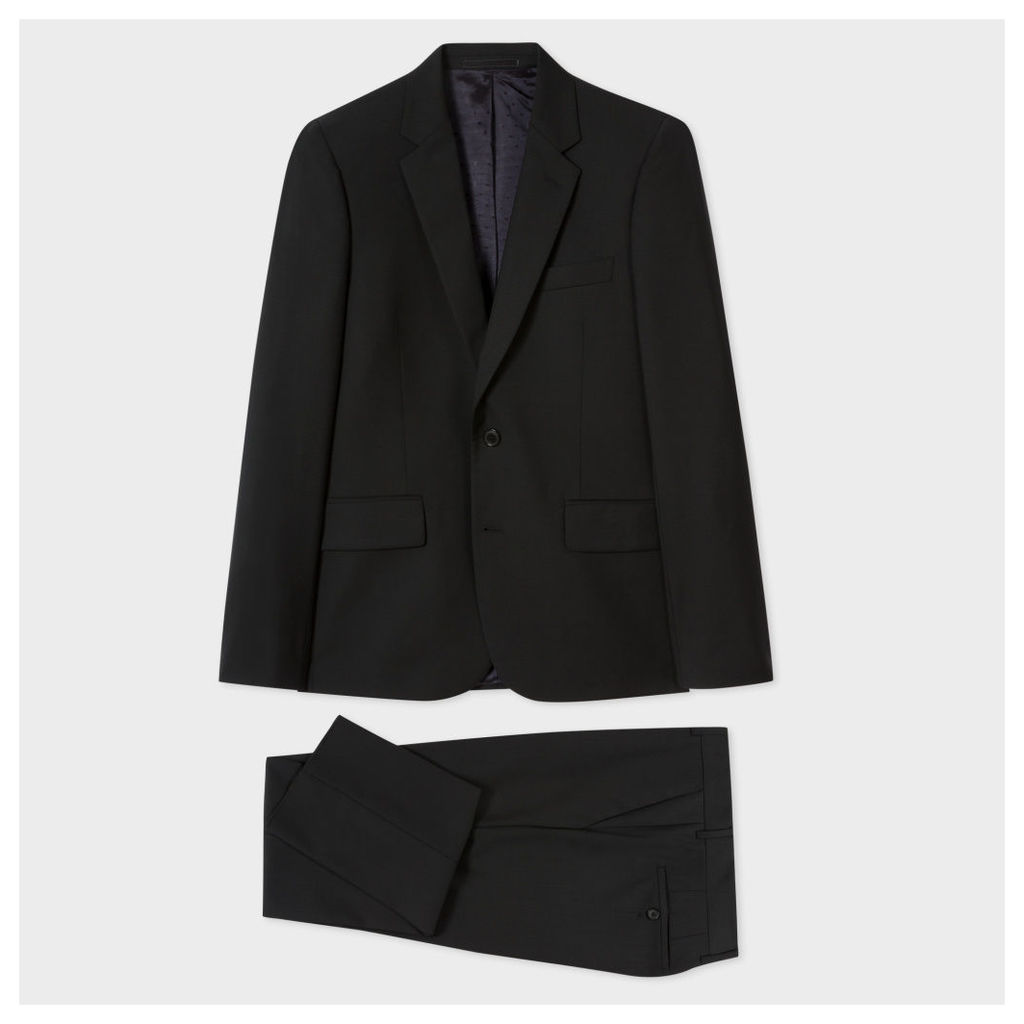 The Soho - Men's Tailored-Fit Black Wool-Mohair Suit