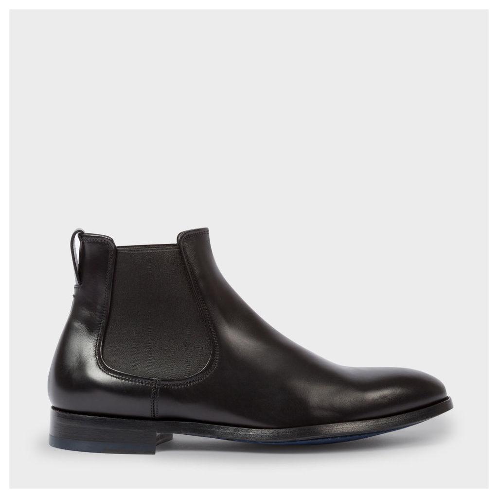 Men's Black Leather 'Myron' Chelsea Boots