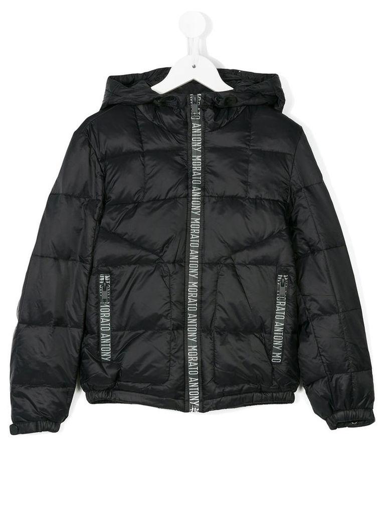 Antony Morato - logo detail padded jacket - kids - Polyamide/Polyester - 8 yrs, Black