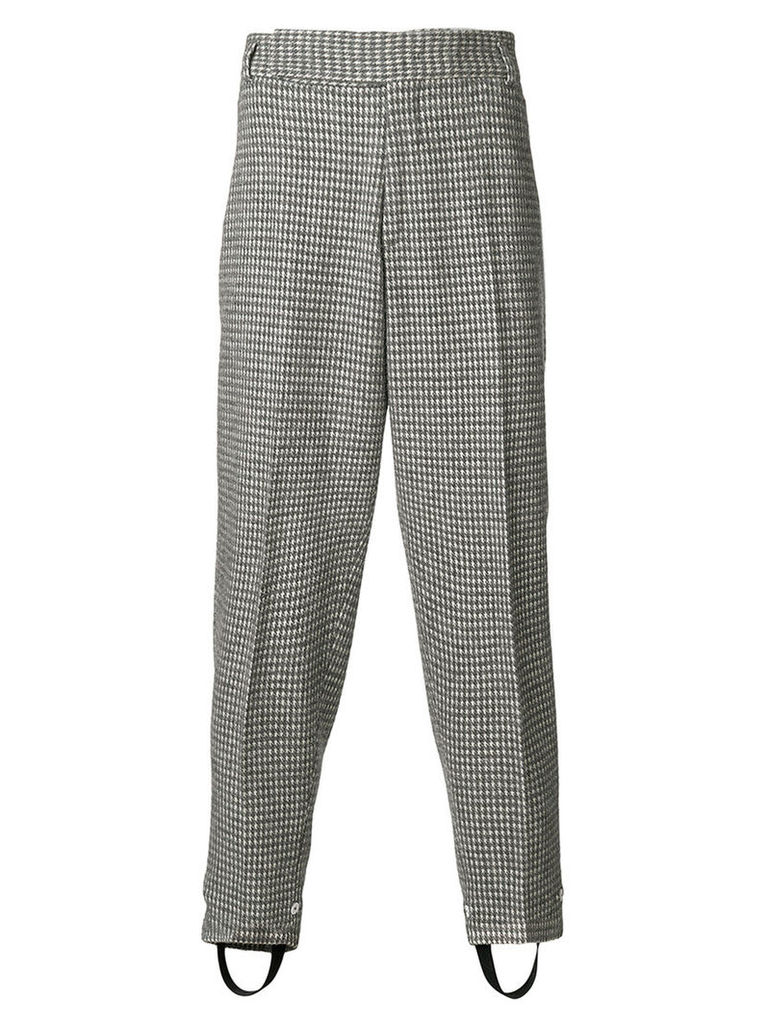 Z Zegna - embroidered loose fit trousers - men - Polyamide/Acetate/Viscose/Wool - 48, Grey