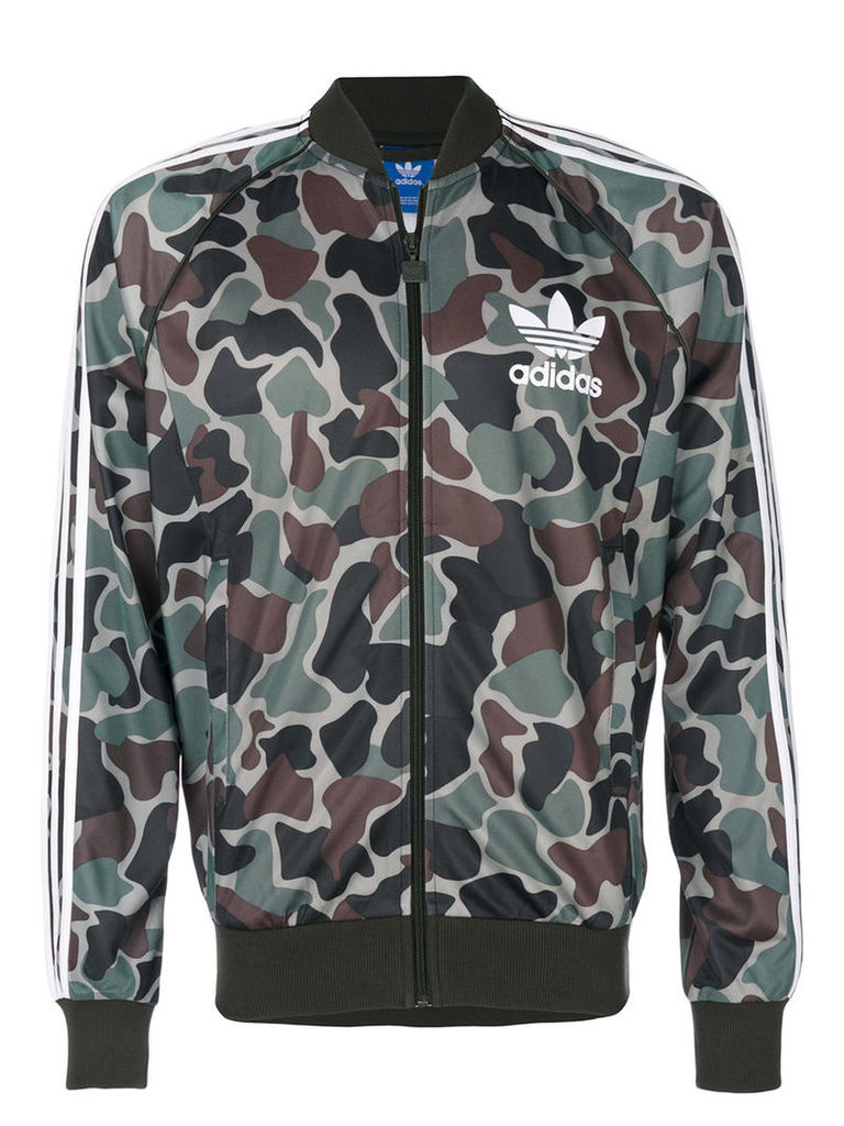 Adidas - Camouflage SST track top - men - Polyester - S, Green