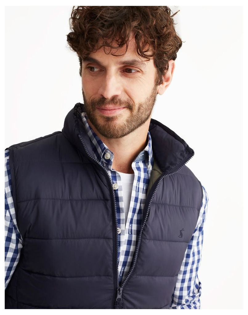 Marine Navy Go to Lightweight Padded Gilet  Size S | Joules UK