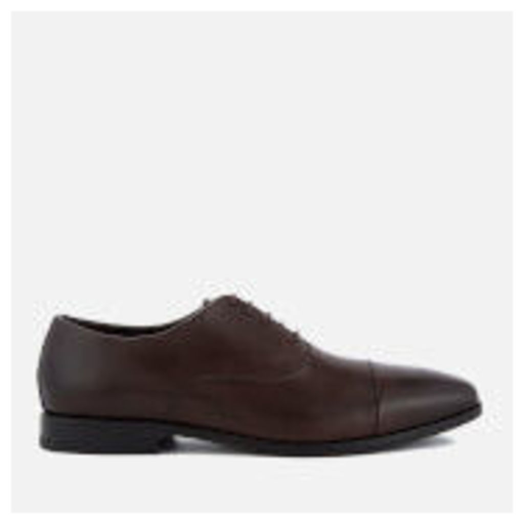 BOSS Hugo Boss Men's High Line Leather Toe Cap Oxford Shoes - Dark Brown