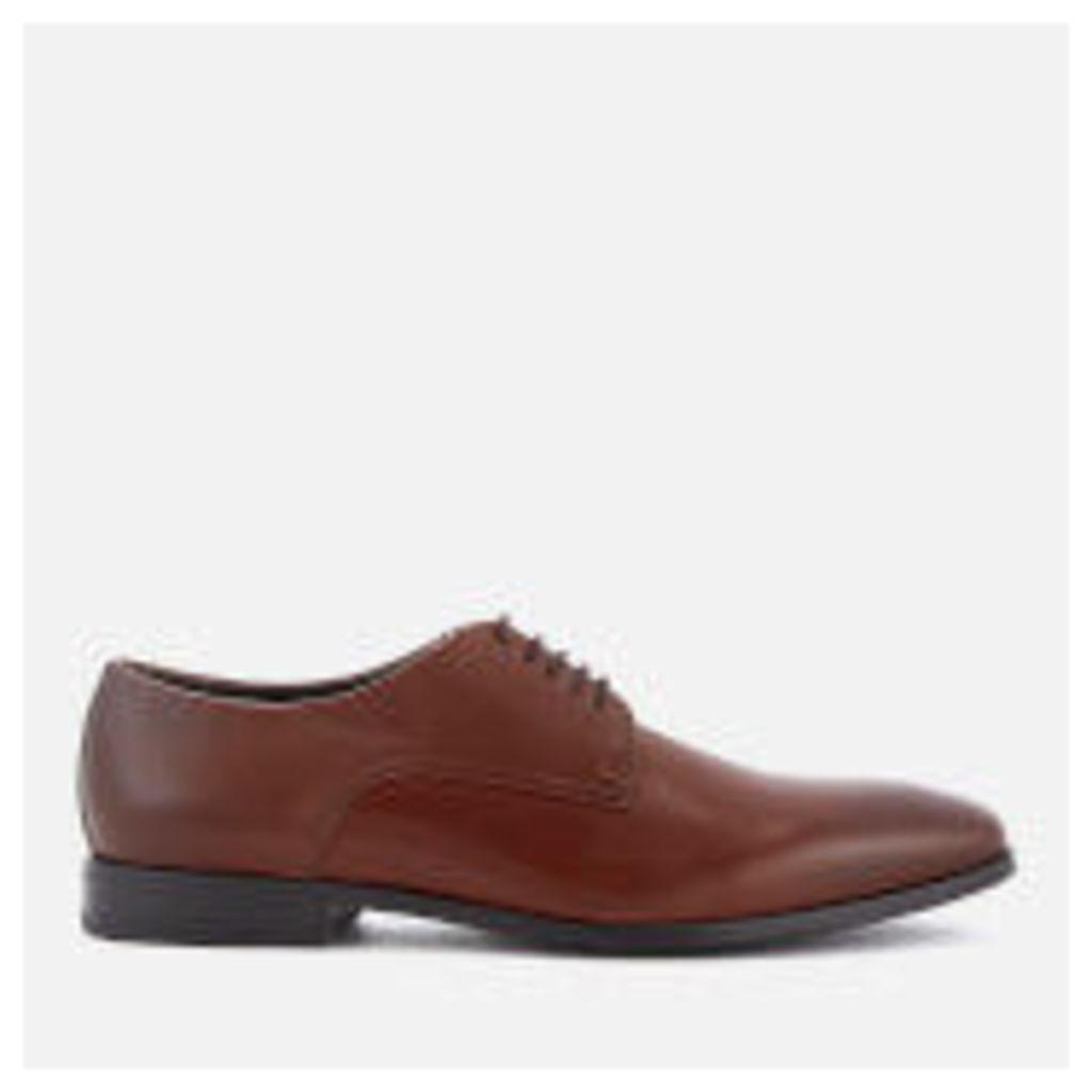 BOSS Hugo Boss Men's High Line Leather Derby Shoes - Medium Brown